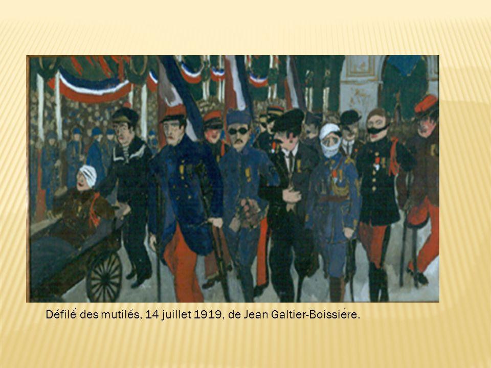 Défilé́ des mutilés, 14 juillet 1919, de Jean Galtier-Boissière.