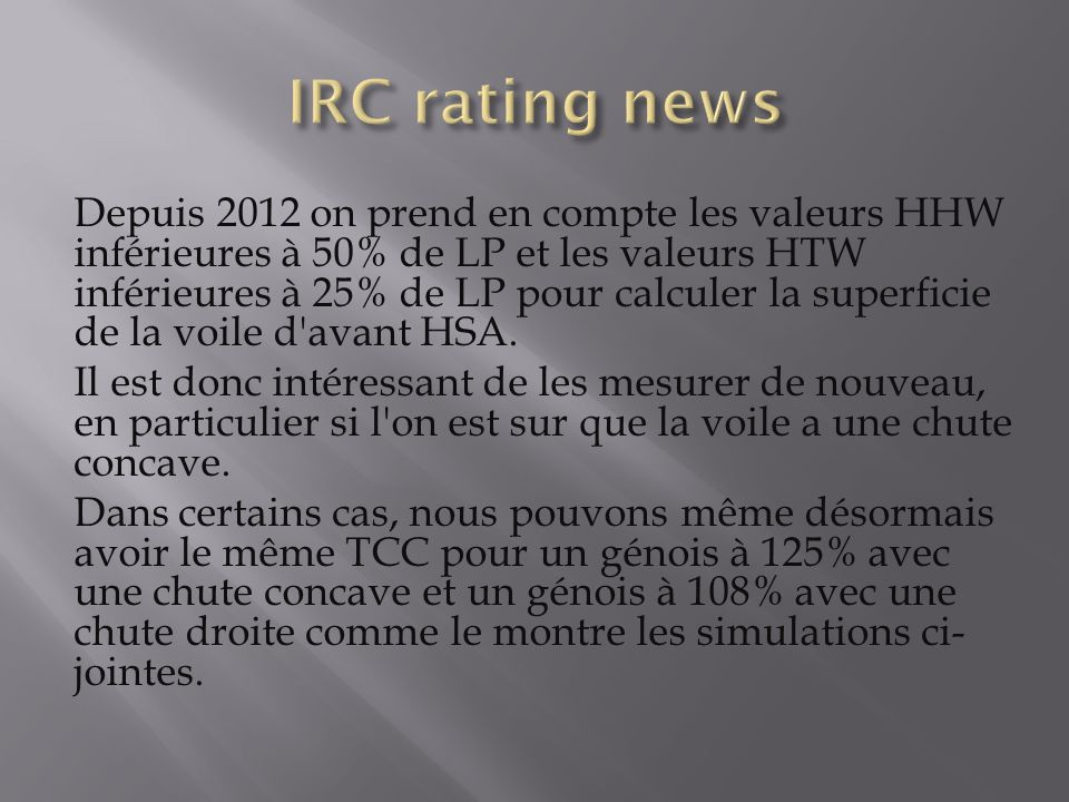 IRC rating news