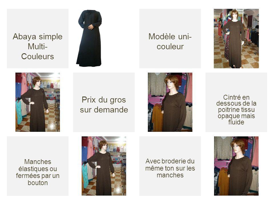 Abaya simple Multi-Couleurs Modèle uni-couleur