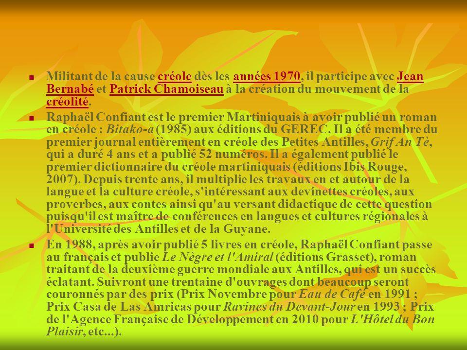 Militant de la cause créole dès les années 1970, il participe avec Jean Bernabé et Patrick Chamoiseau à la création du mouvement de la créolité.