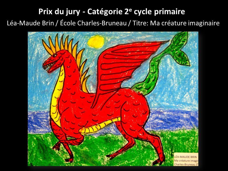 Prix du jury - Catégorie 2e cycle primaire