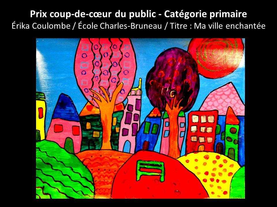 Prix coup-de-cœur du public - Catégorie primaire