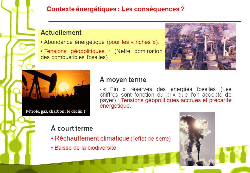 Pétrole, gaz, charbon : le déclin !