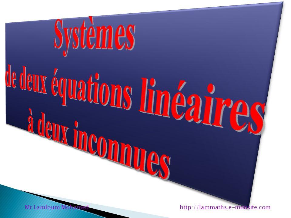 de deux équations linéaires