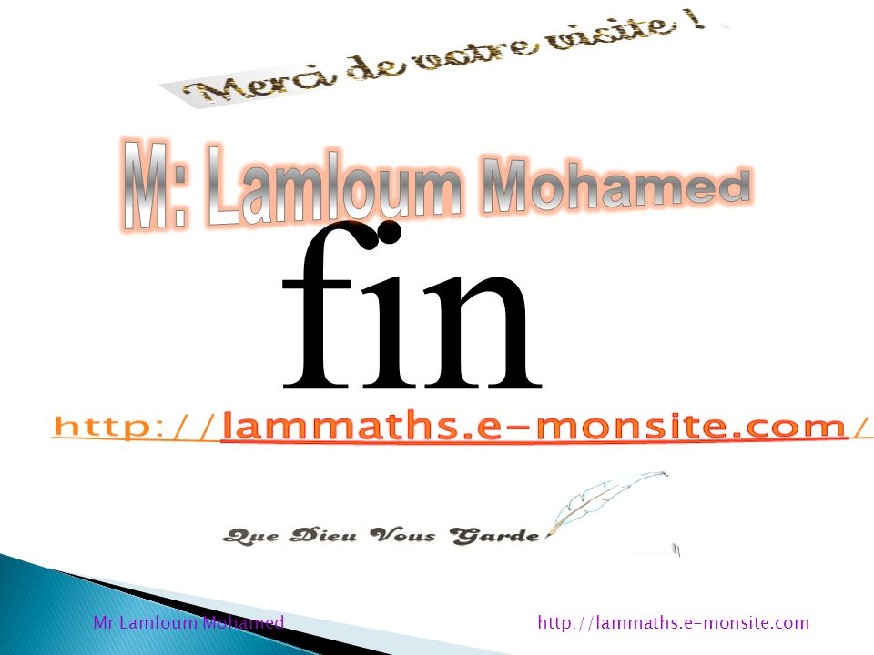Mr Lamloum Mohamed http://lammaths.e-monsite.com