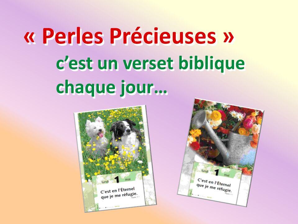« Perles Précieuses » c'est un verset biblique chaque jour…