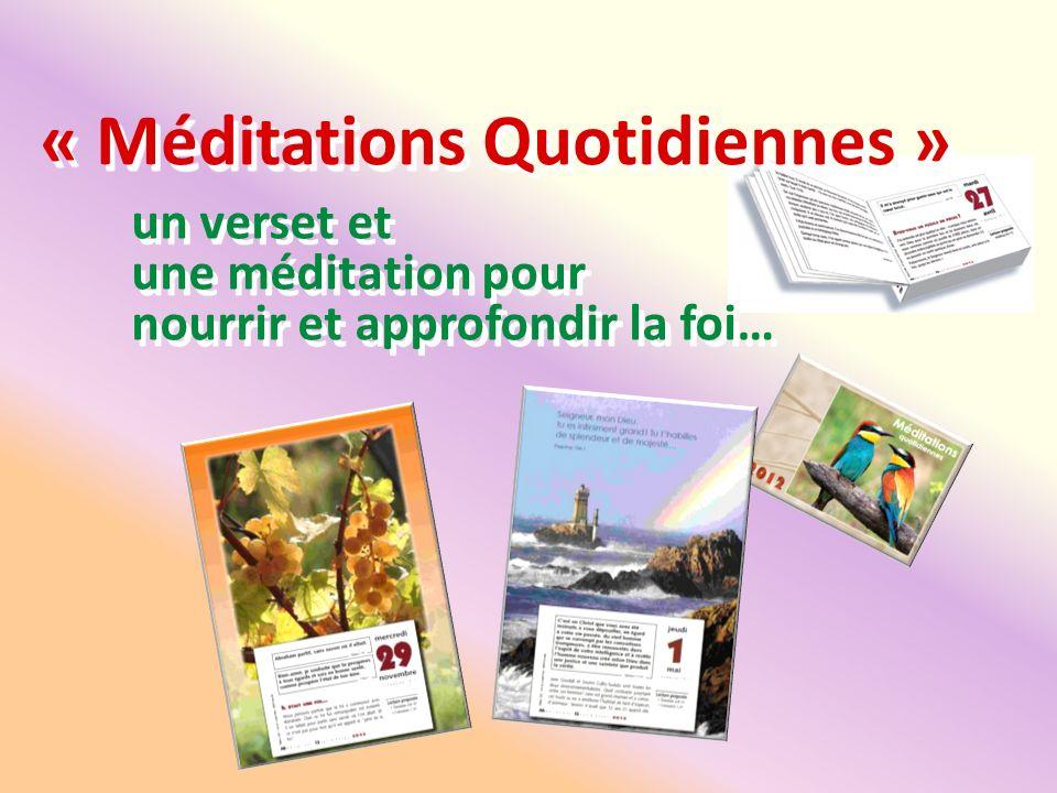 « Méditations Quotidiennes »