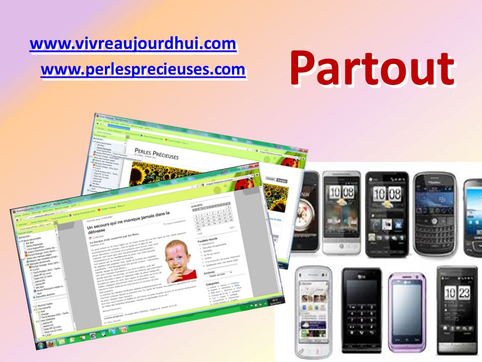 Partout www.vivreaujourdhui.com www.perlesprecieuses.com