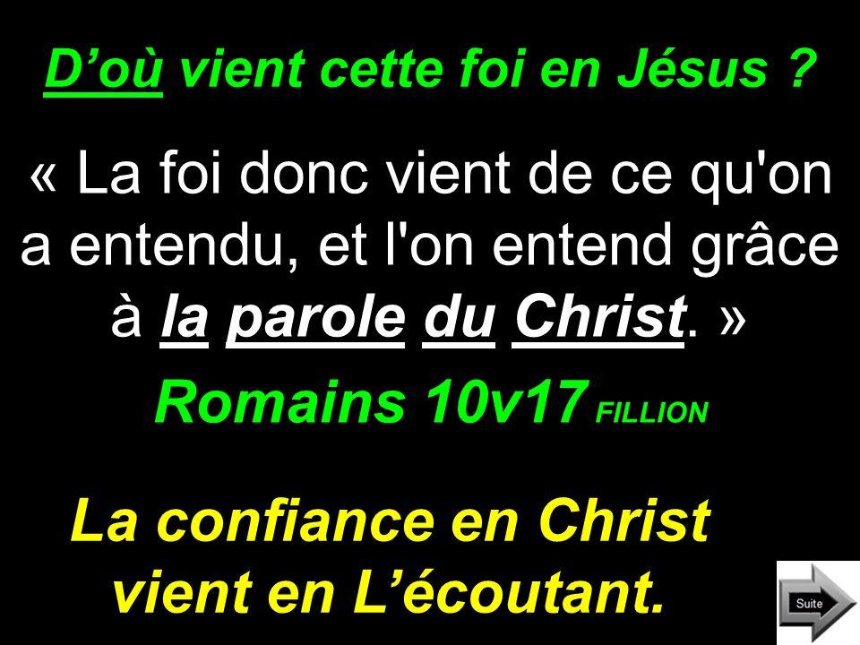 D'où vient cette foi en Jésus