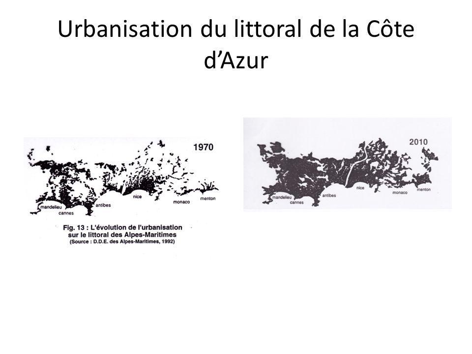Urbanisation du littoral de la Côte d'Azur