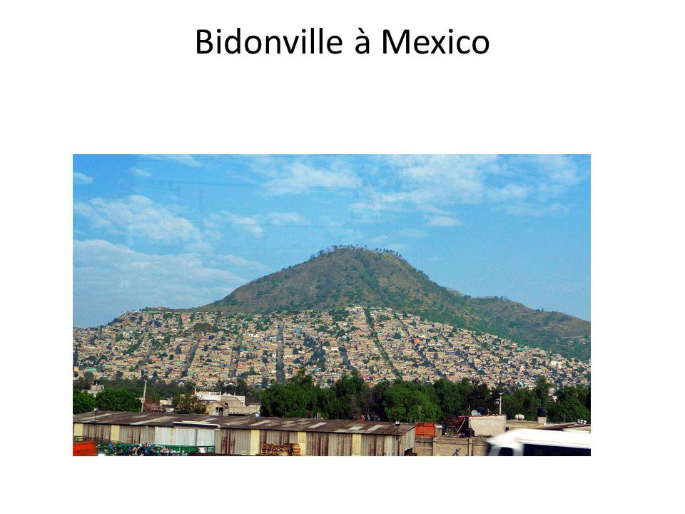 Bidonville à Mexico