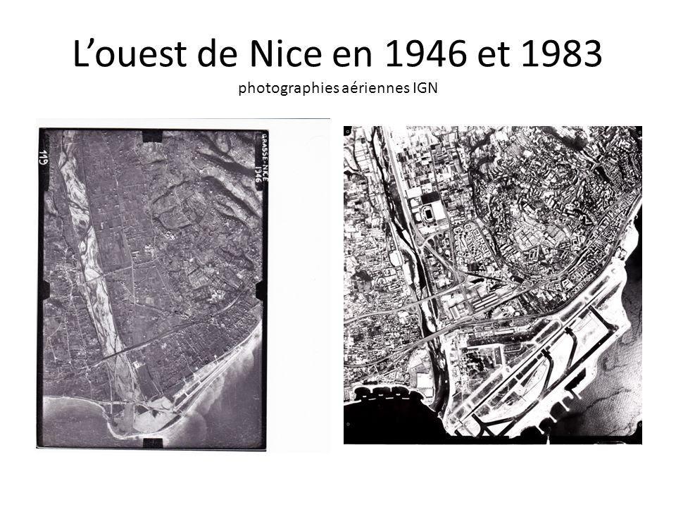 L'ouest de Nice en 1946 et 1983 photographies aériennes IGN