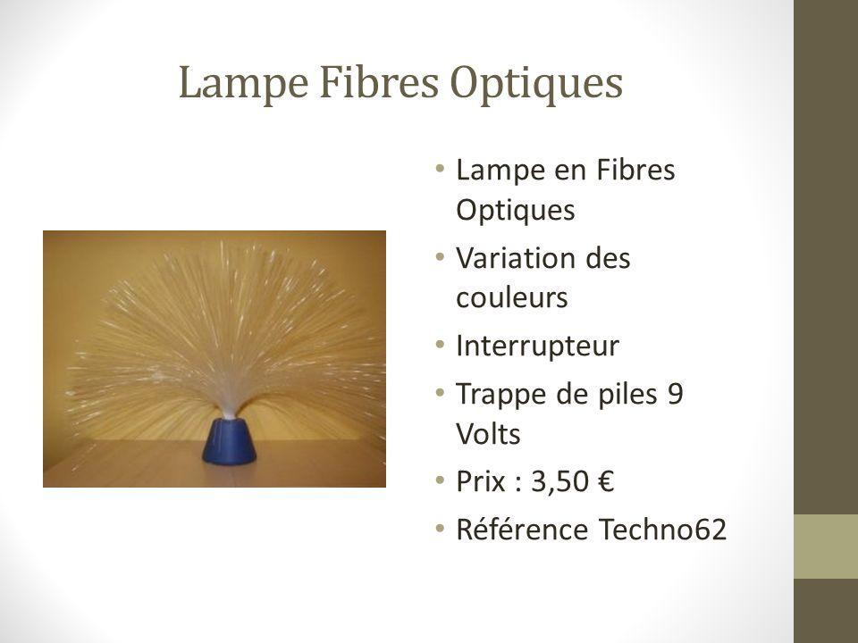 Lampe Fibres Optiques Lampe en Fibres Optiques Variation des couleurs