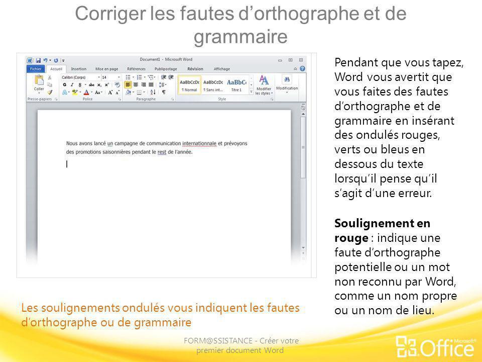 Corriger les fautes d'orthographe et de grammaire