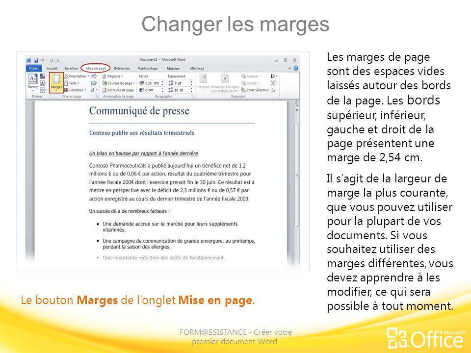FORM@SSISTANCE - Créer votre premier document Word