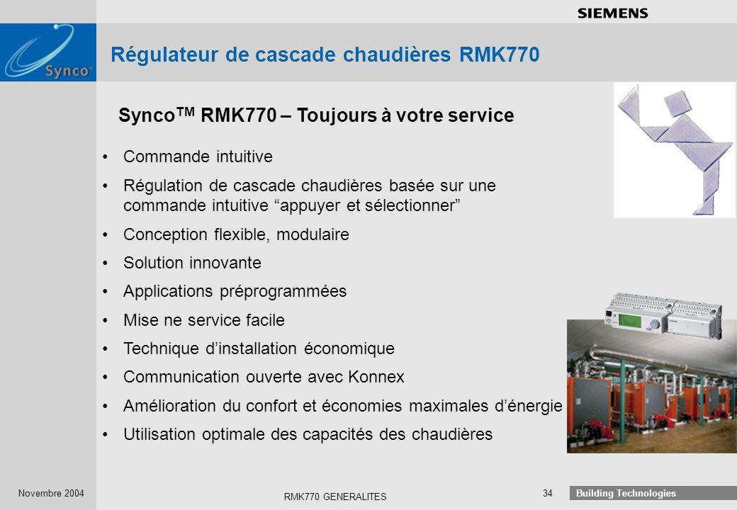 Régulateur de cascade chaudières RMK770