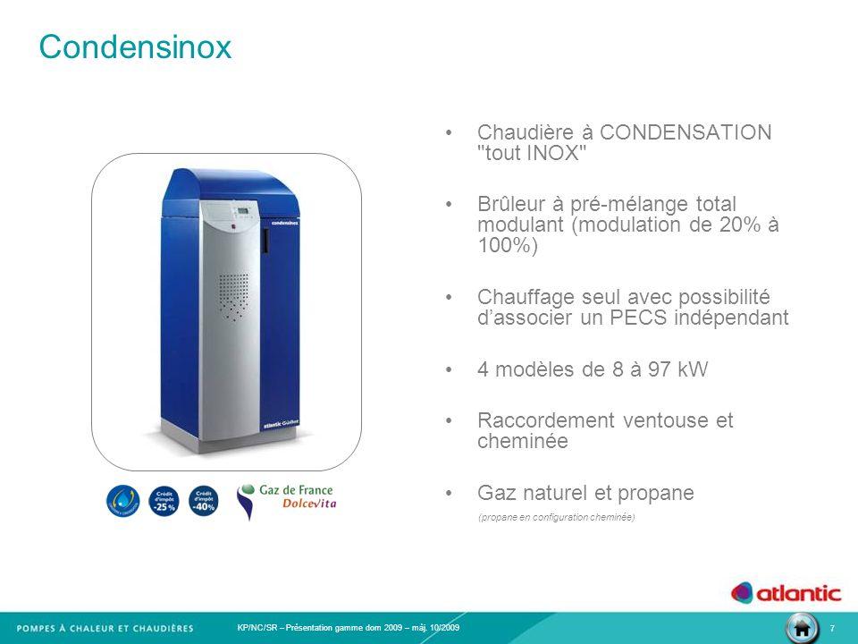 Condensinox Chaudière à CONDENSATION tout INOX