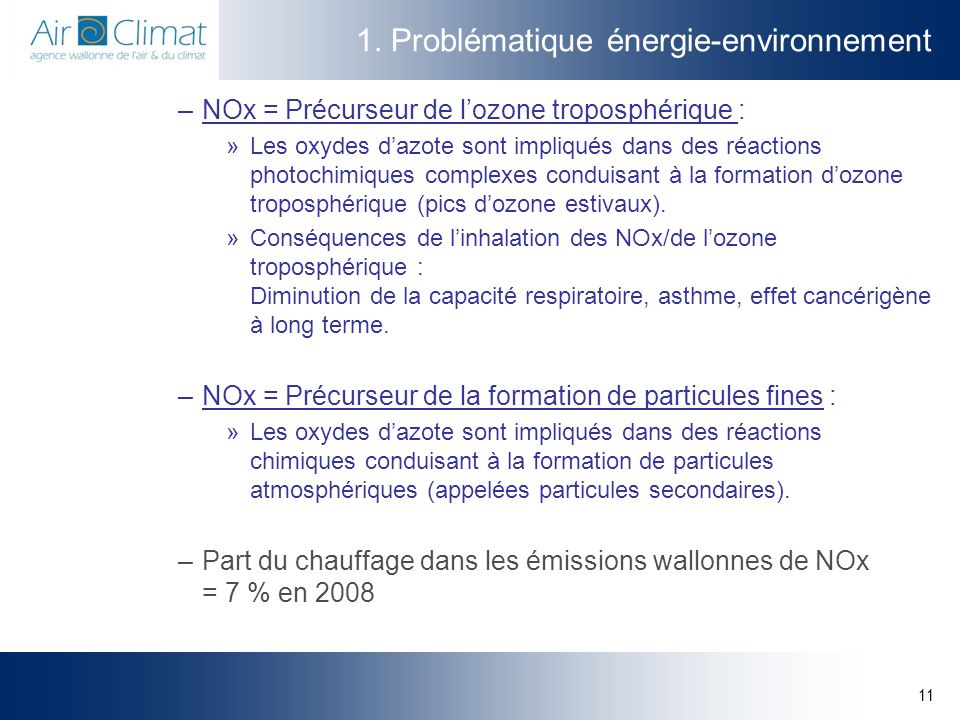 1. Problématique énergie-environnement