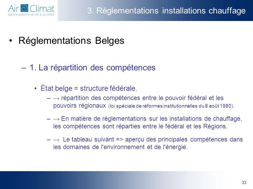 3. Réglementations installations chauffage