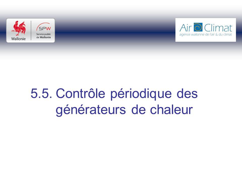 5.5. Contrôle périodique des générateurs de chaleur