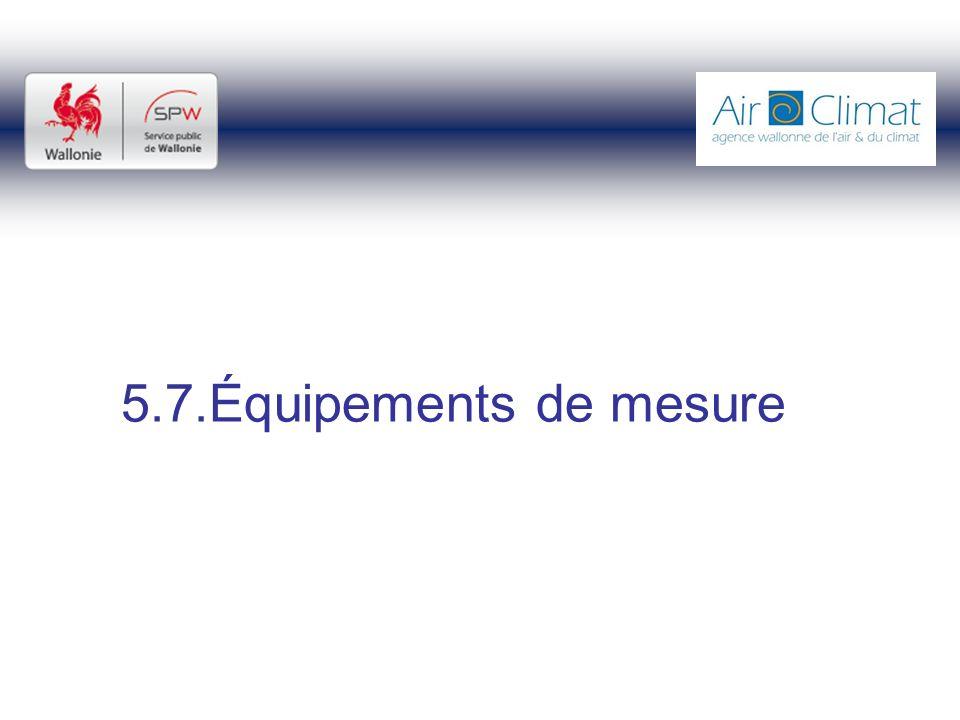 5.7.Équipements de mesure