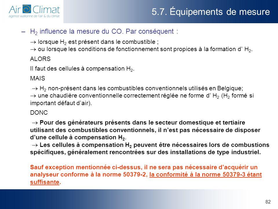 5.7. Équipements de mesure