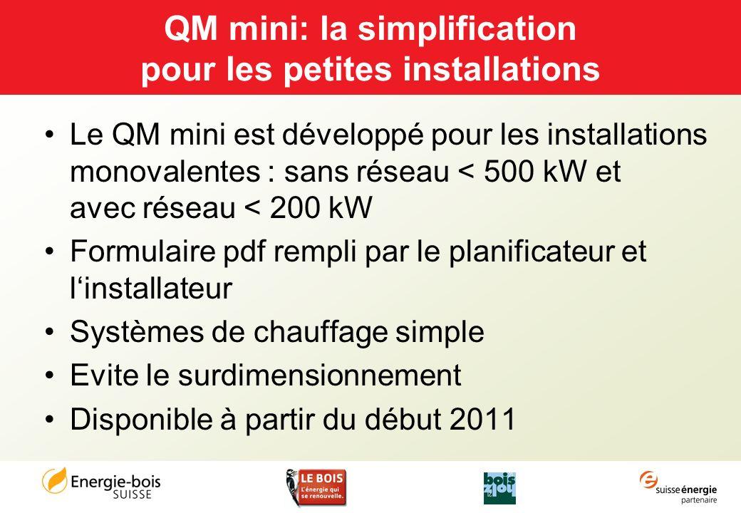 QM mini: la simplification pour les petites installations