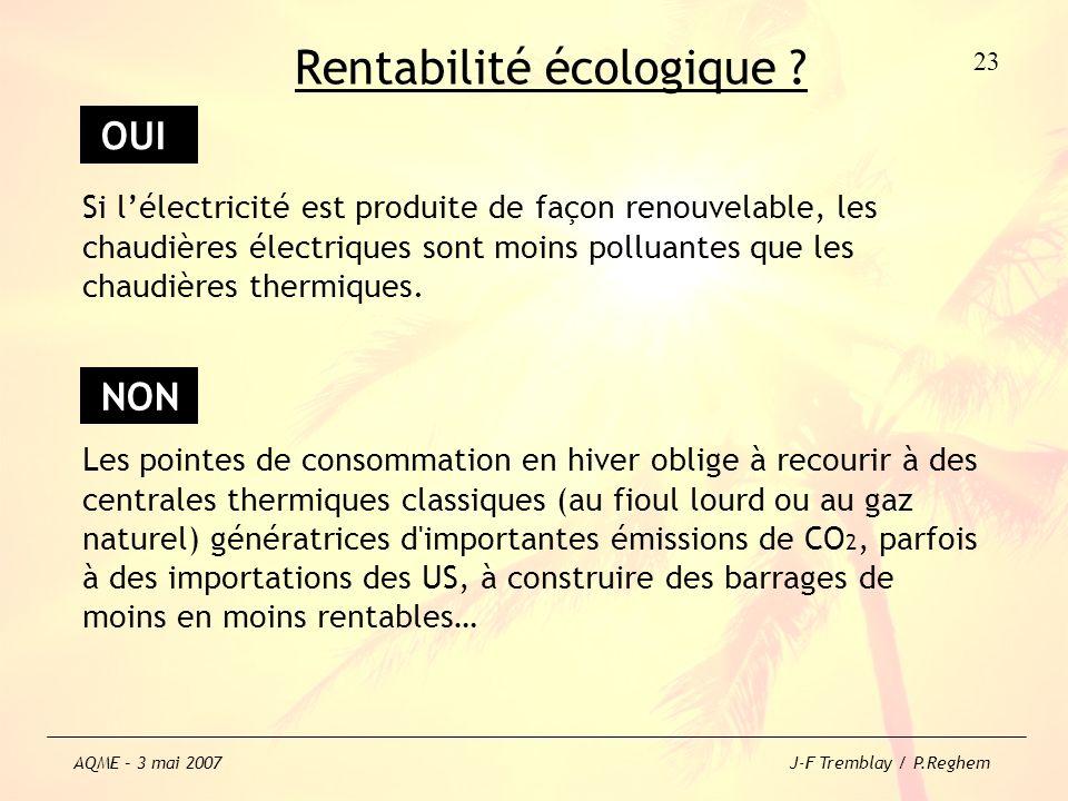 Rentabilité écologique