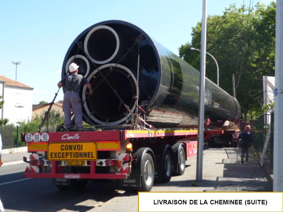 LIVRAISON DE LA CHEMINEE (SUITE)