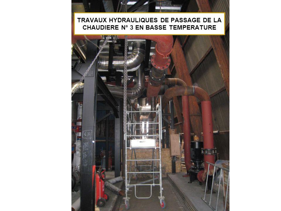 TRAVAUX HYDRAULIQUES DE PASSAGE DE LA CHAUDIERE N° 3 EN BASSE TEMPERATURE