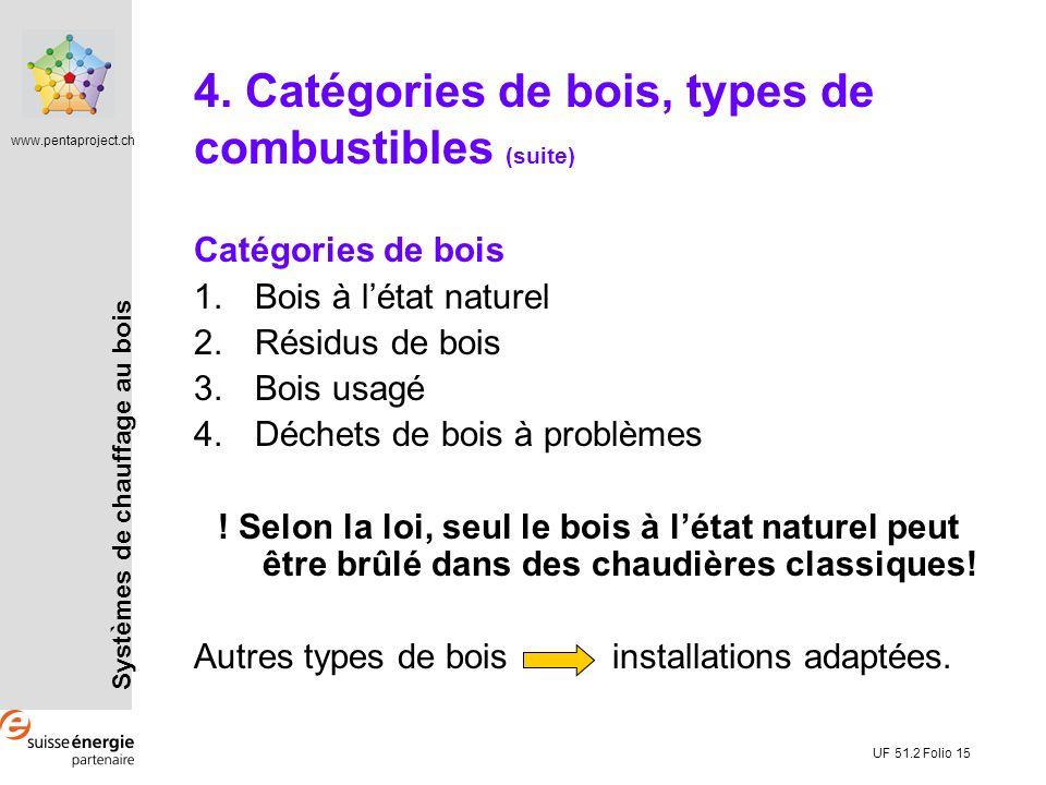4. Catégories de bois, types de combustibles (suite)