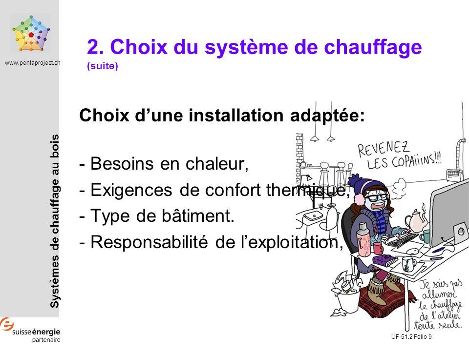2. Choix du système de chauffage (suite)