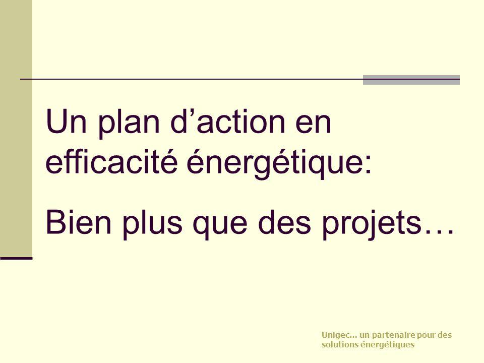 Un plan d'action en efficacité énergétique: Bien plus que des projets…