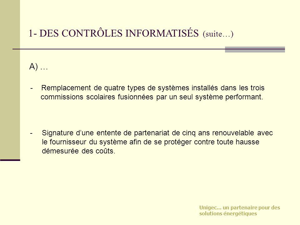 1- DES CONTRÔLES INFORMATISÉS (suite…)