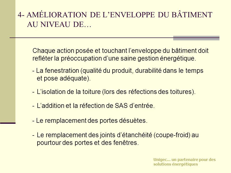 4- AMÉLIORATION DE L'ENVELOPPE DU BÂTIMENT AU NIVEAU DE…