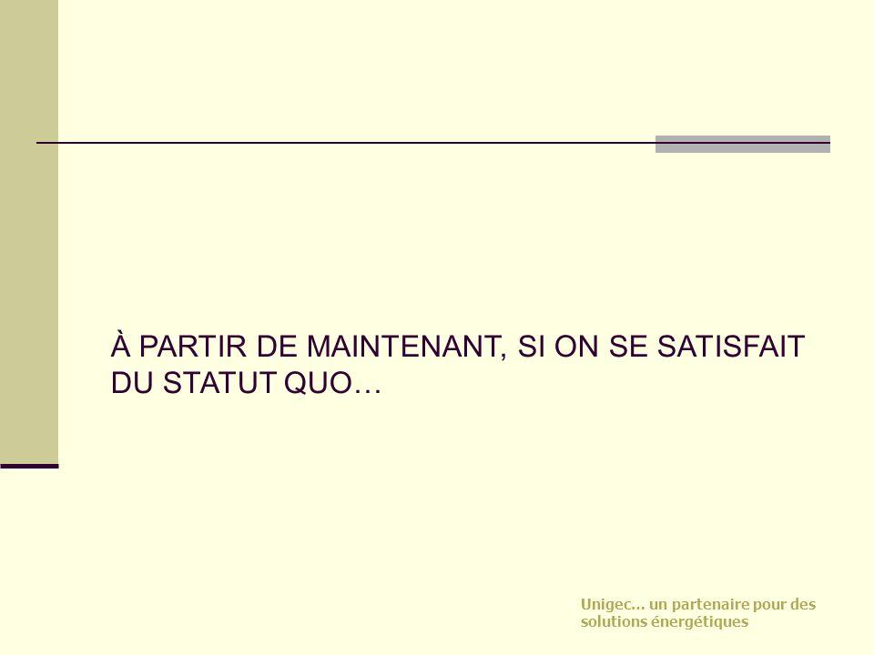 À PARTIR DE MAINTENANT, SI ON SE SATISFAIT