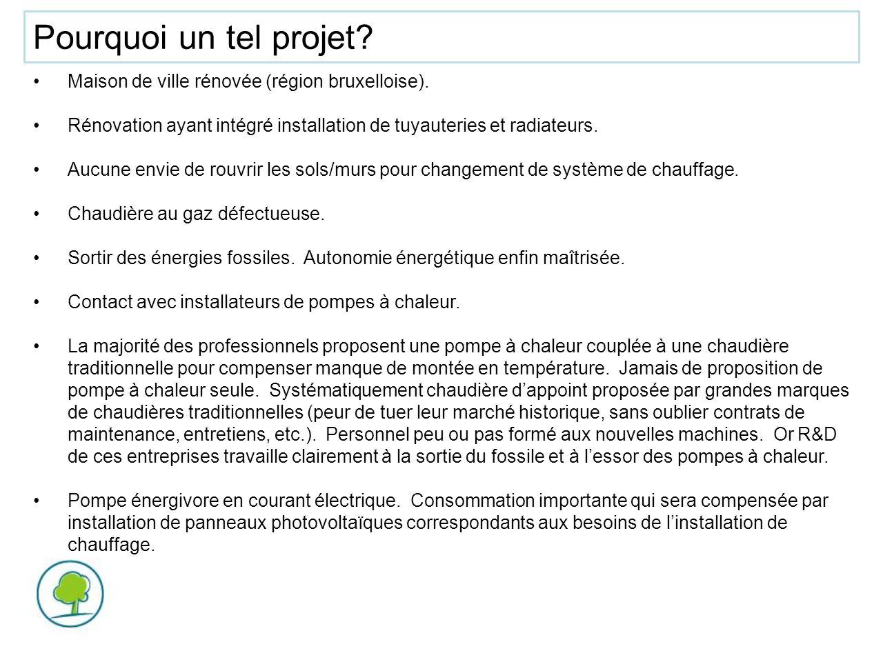 Pourquoi un tel projet Maison de ville rénovée (région bruxelloise).