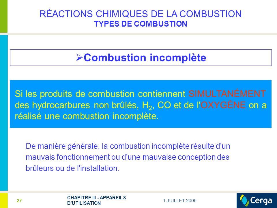 Combustion incomplète