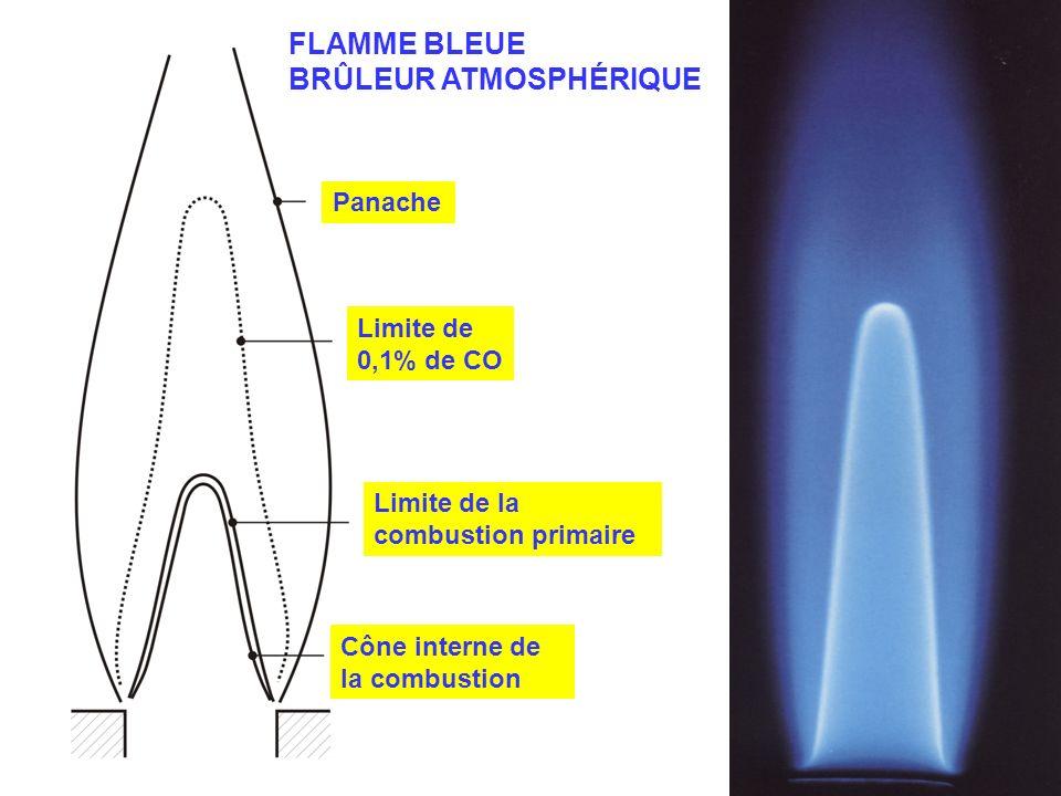 FLAMME BLEUE BRÛLEUR ATMOSPHÉRIQUE