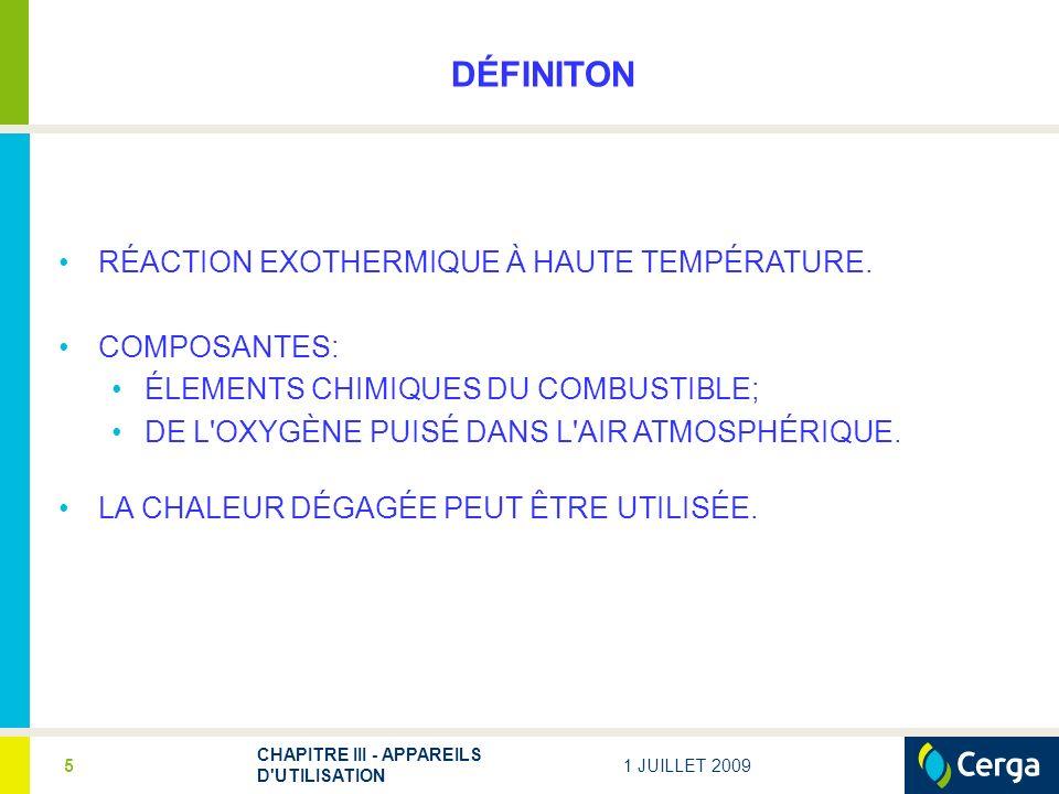 DÉFINITON RÉACTION EXOTHERMIQUE À HAUTE TEMPÉRATURE. COMPOSANTES: