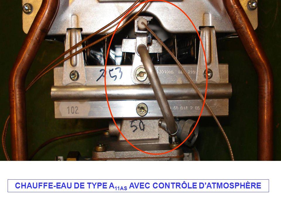 CHAUFFE-EAU DE TYPE A11AS AVEC CONTRÔLE D ATMOSPHÈRE