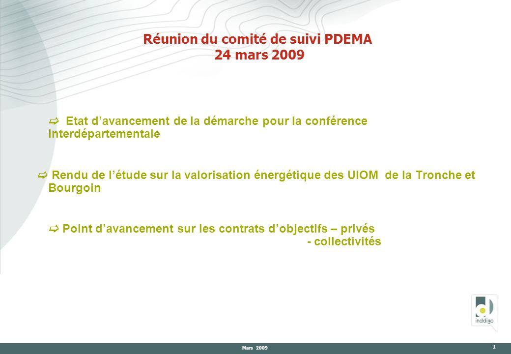 Réunion du comité de suivi PDEMA 24 mars 2009