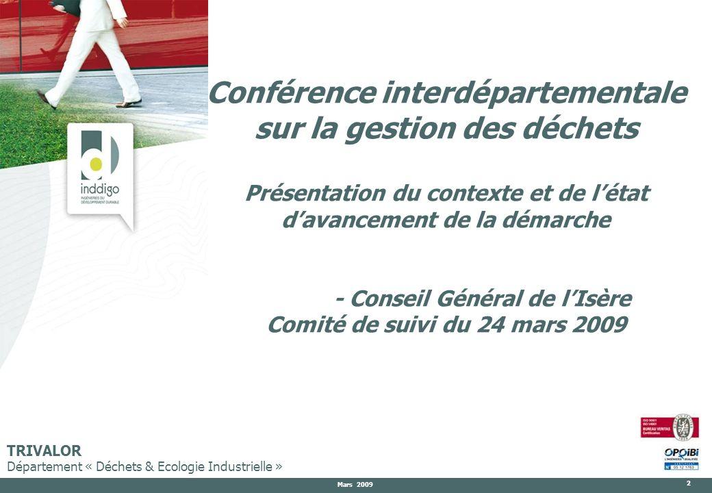 Conférence interdépartementale sur la gestion des déchets