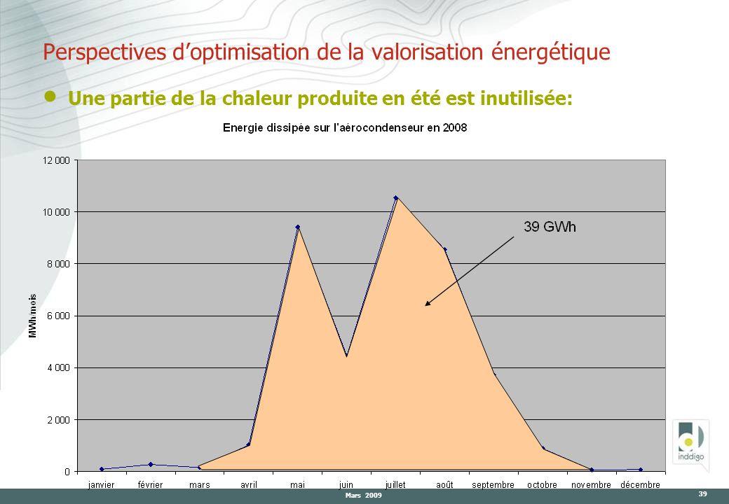 Perspectives d'optimisation de la valorisation énergétique
