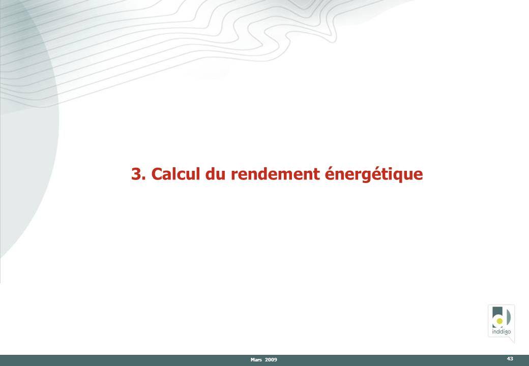 3. Calcul du rendement énergétique