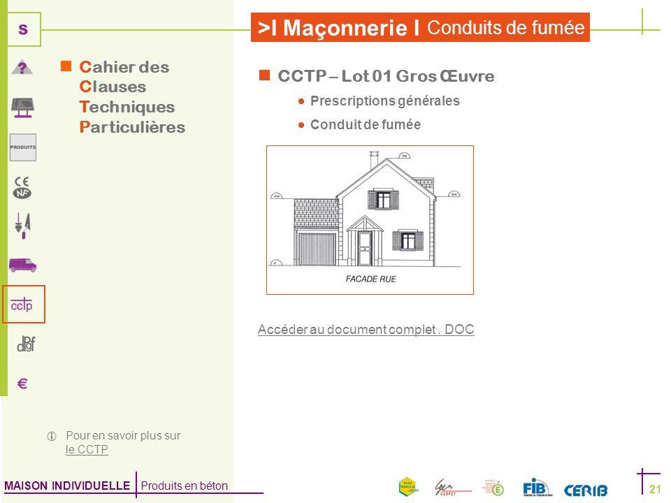 Cahier des Clauses Techniques Particulières CCTP – Lot 01 Gros Œuvre