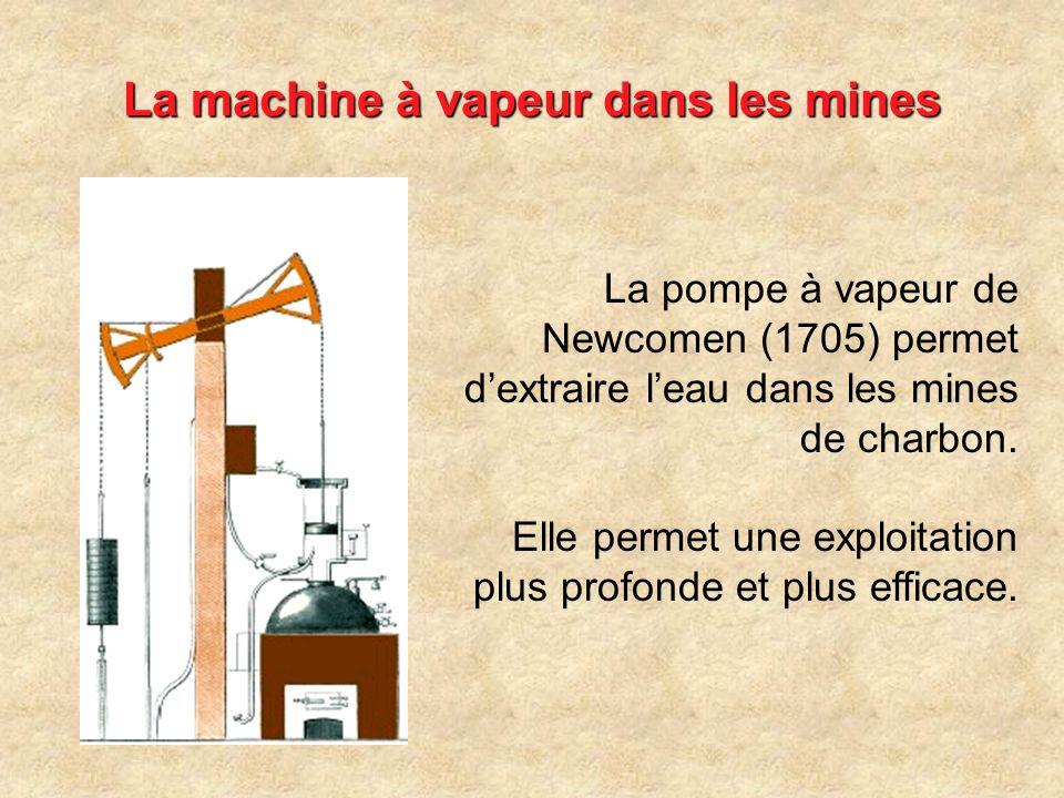 La machine à vapeur dans les mines
