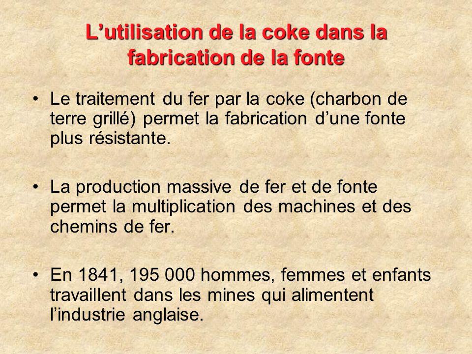 L'utilisation de la coke dans la fabrication de la fonte