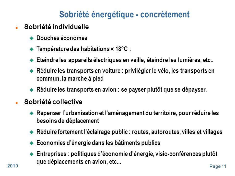Sobriété énergétique - concrètement