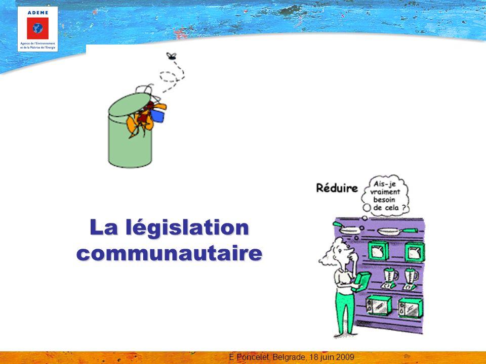 La législation communautaire
